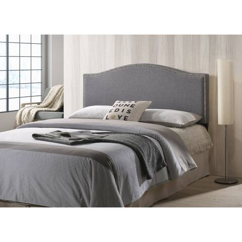 Poly and Bark Ariella Headboard with Nailhead Trim, Queen Size