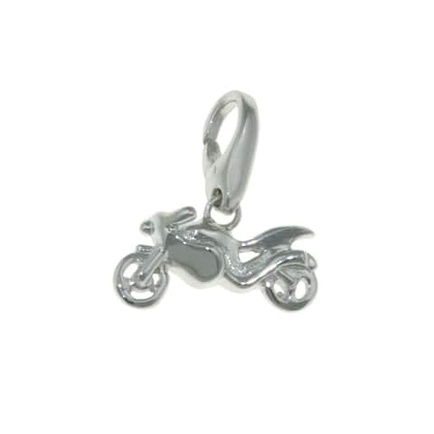 Isla Simone Sterling Silver Motorcycle Charm
