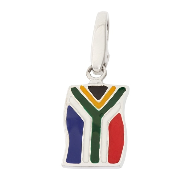 Isla Simone Sterling Silver South African Flag Charm