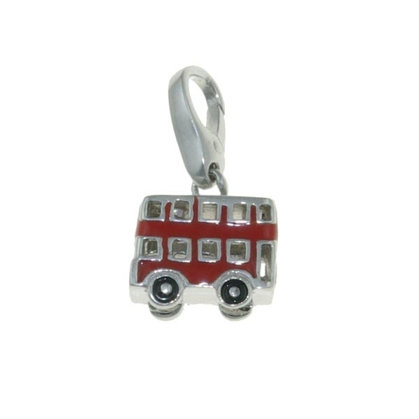 Isla Simone Sterling Silver Red Enamel Double-Decker Bus Charm. Opens flyout.