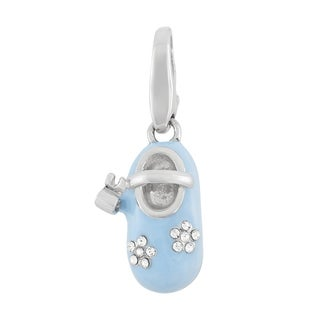 Isla Simone Sterling Silver Baby Blue Boy's Shoe