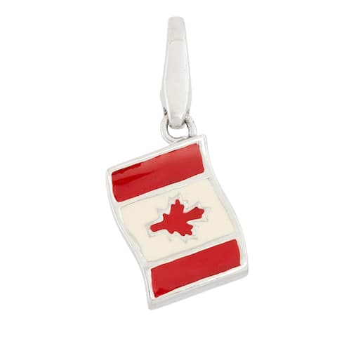Isla Simone Sterling Silver Flag Of Canada
