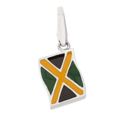 Isla Simone Sterling Silver Jamaican Flag