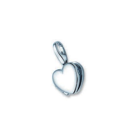 Isla Simone Sterling Silver Heart Locket Charm