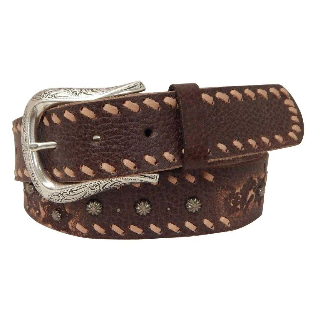 Roper Ladies' 1 1/2 Inch Distressed Genuine Leather Belt ...