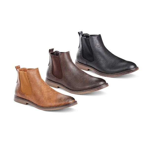 5d1ee48bb Shop Miko Lotti Men's Chelsea Boots - On Sale - Free Shipping Today ...