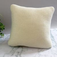 Five Queens Court Leon Chunky Knit Euro Square Throw Pillow
