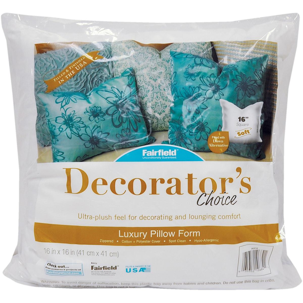 """Fairfield Decorator's Choice Luxury Pillow Form (16""""X16"""" ..."""
