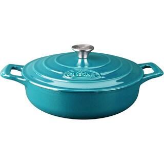 La Cuisine PRO Saute 3.75 Qt. Cast Iron Casserole with Enamel Finish