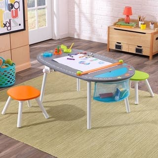 KidKraft Chalkboard Art Table with Stools|https://ak1.ostkcdn.com/images/products/18065211/P24227766.jpg?impolicy=medium