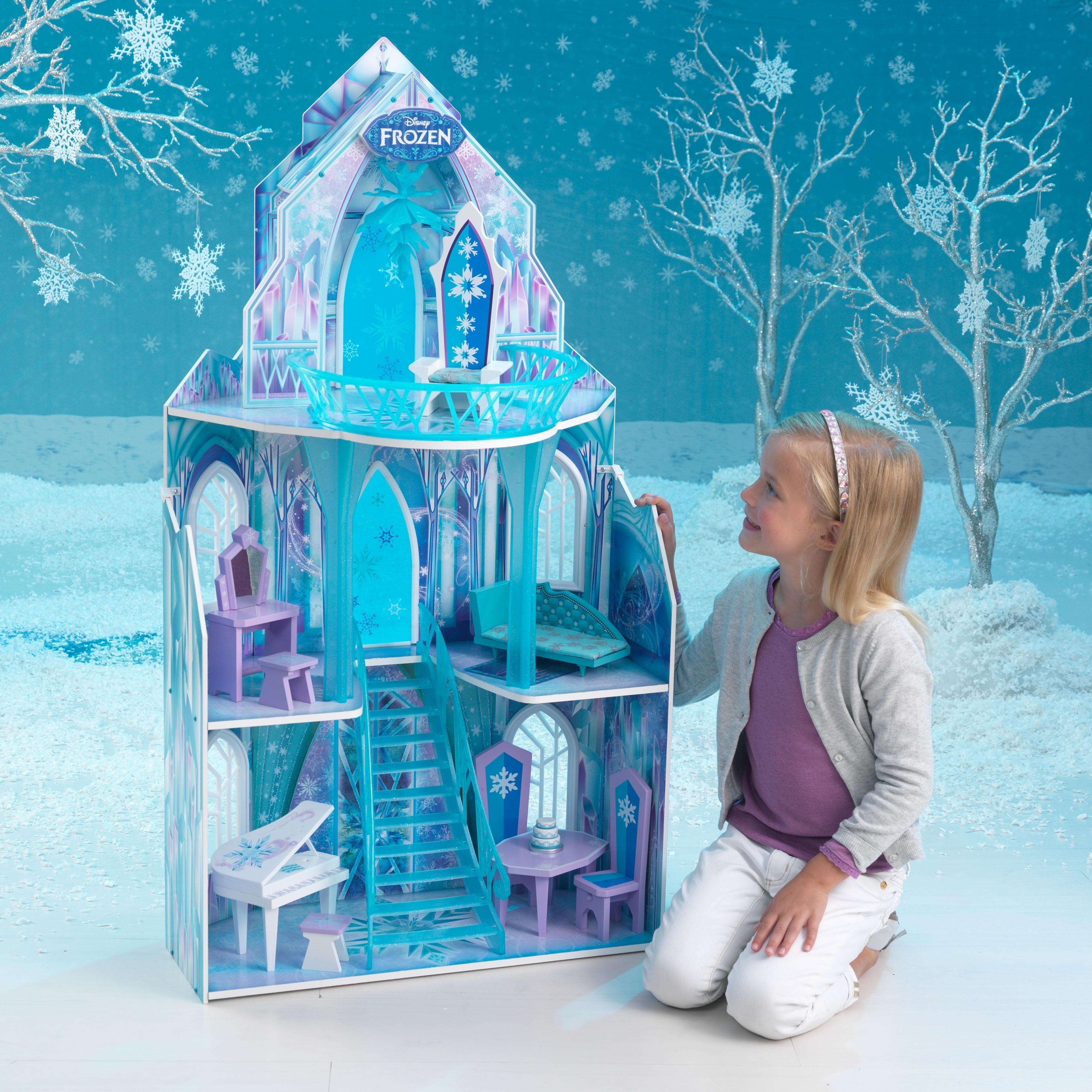 Kid Kraft Disney Frozen Ice (White) Castle Dollhouse (As ...