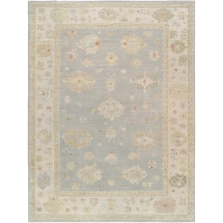 "Pasargad Grey/Beige Oushak Collection Area Rug (12' 8"" X 17' 8"")"