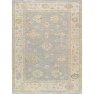 """Pasargad Grey/Beige Oushak Collection Area Rug (12' 8"""" X 17' 8"""") https://ak1.ostkcdn.com/images/products/18065220/P24227758.jpg?impolicy=medium"""
