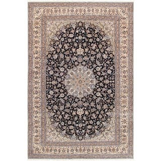 """Pasargad Nain Collection Hand-Knotted Silk & Wool Area Rug (11'10"""" X 18' 0"""") https://ak1.ostkcdn.com/images/products/18065222/P24227759.jpg?impolicy=medium"""