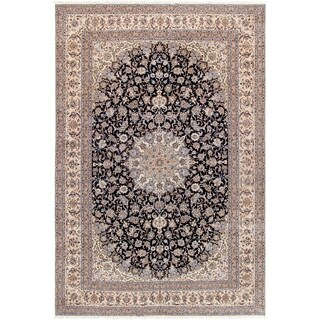 "Pasargad Nain Collection Hand-Knotted Silk & Wool Area Rug (11'10"" X 18' 0"")"