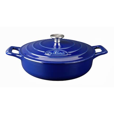 La Cuisine PRO Saute 3.75 Qt. Cast Iron Casserole with Enamel Finish
