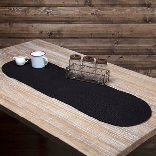 Black Jute Oval Runner