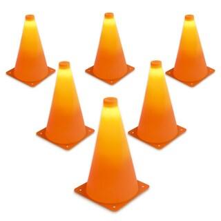 "GoSports LED Light Up Sports Cones (6 Pack), 9"""