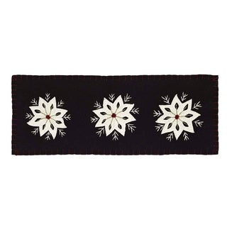 Christmas Snowflake Felt Embroidery Runner