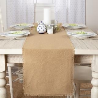 Farmhouse Tabletop Kitchen VHC Burlap Natural Runner Cotton Solid Color Cotton Burlap (13x90)