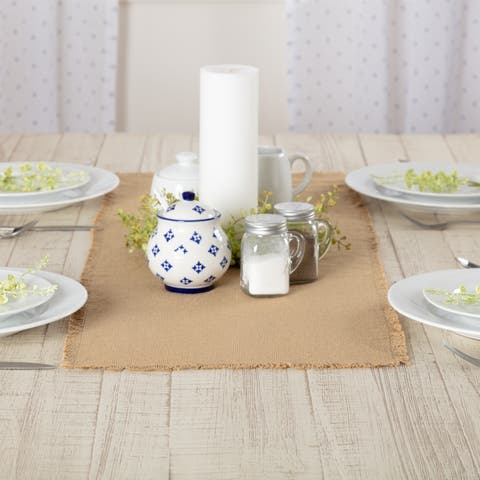 Farmhouse Tabletop Kitchen VHC Burlap Natural Runner Cotton Solid Color Cotton Burlap