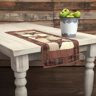 Red Country Tabletop Kitchen VHC Abilene Star Runner Cotton Star Patchwork