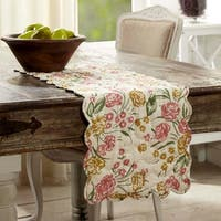 Madeline Floral Quilted Runner
