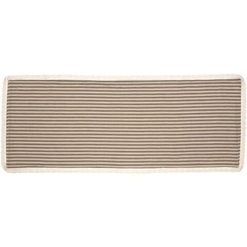 Farmhouse Tabletop Kitchen VHC Kendra Stripe Runner Cotton Striped Chambray