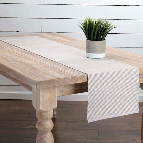Farmhouse Tabletop Kitchen VHC Ashton Runner Cotton Striped