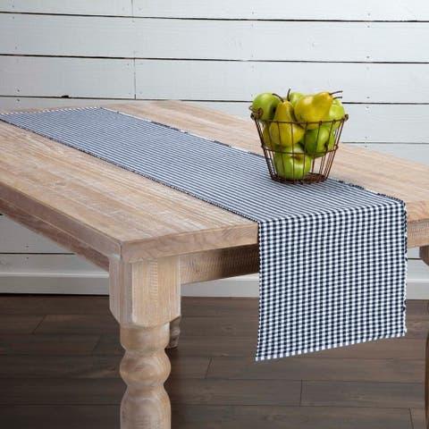 Farmhouse Tabletop Kitchen VHC Tara Runner Cotton Plaid
