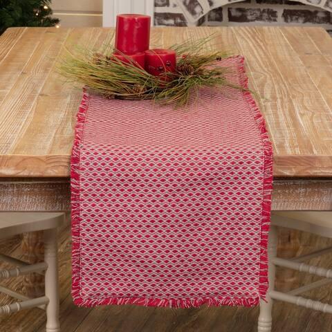 Red Vintage Holiday Decor VHC Tannen Runner Cotton Diamond
