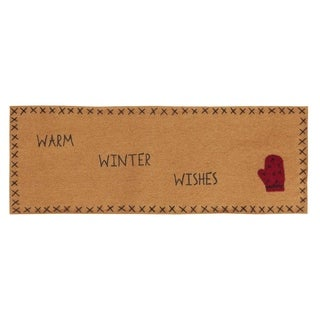 Warm Wishes with Applique Mitten & Stencil Felt Runner