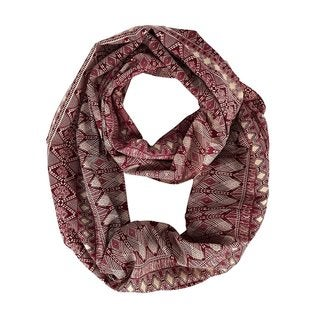 Link to Peach Couture Bohemian Tribal Maroon Cream Infinity Loop - Medium Similar Items in Scarves & Wraps