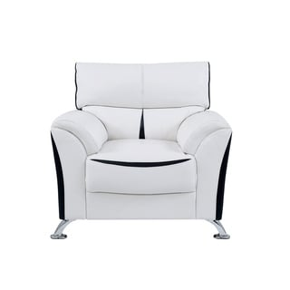 Global Furniture White and Black PVC Fabric Chair