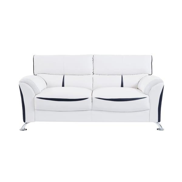 Global Furniture White And Black Sofa