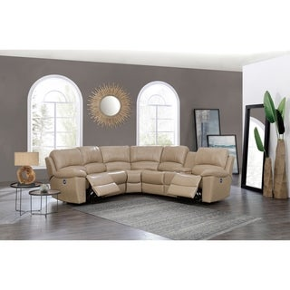 Attractive Global Furniture Glove Tan Reclining Sectional