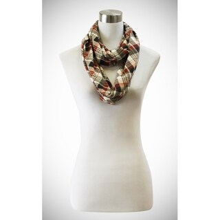 Le Nom Multi-color check pattern infinity scarf perfect for all outfits