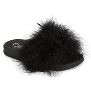 Olivia Miller Kim Marabou Slide Slipper