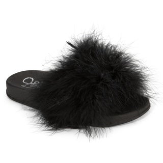 Olivia Miller Kim Marabou Slide Slipper (More options available)