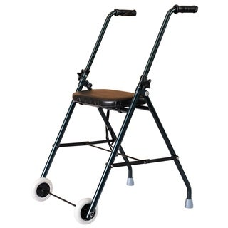 HomCom Folding Aluminum Medical Rollator Walker Dark Green
