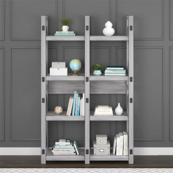 Shop Avenue Greene Woodgate Rustic White Bookcase Room Divider On