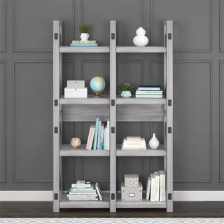 Avenue Greene Woodgate Rustic White Bookcase Room Divider