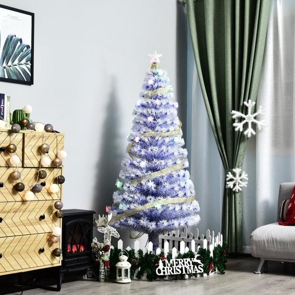 Lead Free Christmas Trees: Shop 5' Tall Artificial Fiber Optic LED Pre-Lit Holiday