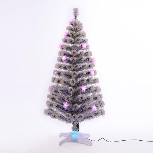 Official Date To Put Up Christmas Trees: Shop HomCom 5' Artificial Holiday Fiber Optic Light Up