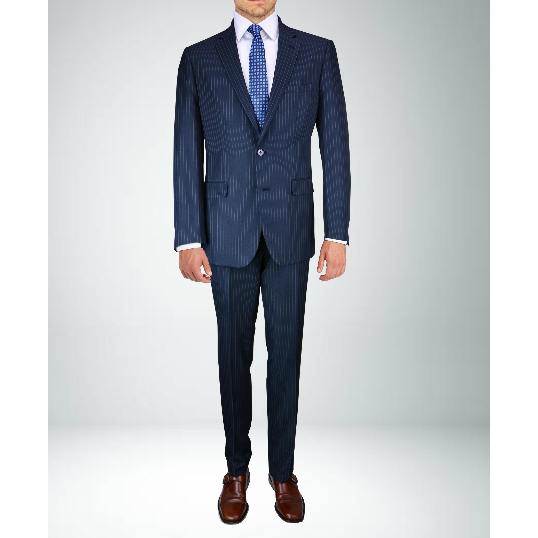 newest style enjoy discount price find workmanship Carlo Studio Mid-Night Blue Pinstripe Suit
