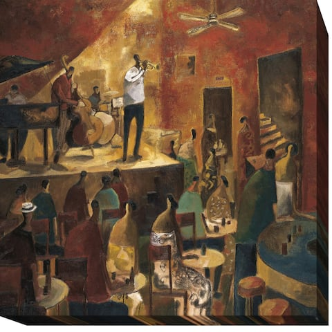 Red Jazz by Didier Lourenco Gallery-Wrapped Canvas Giclee Art