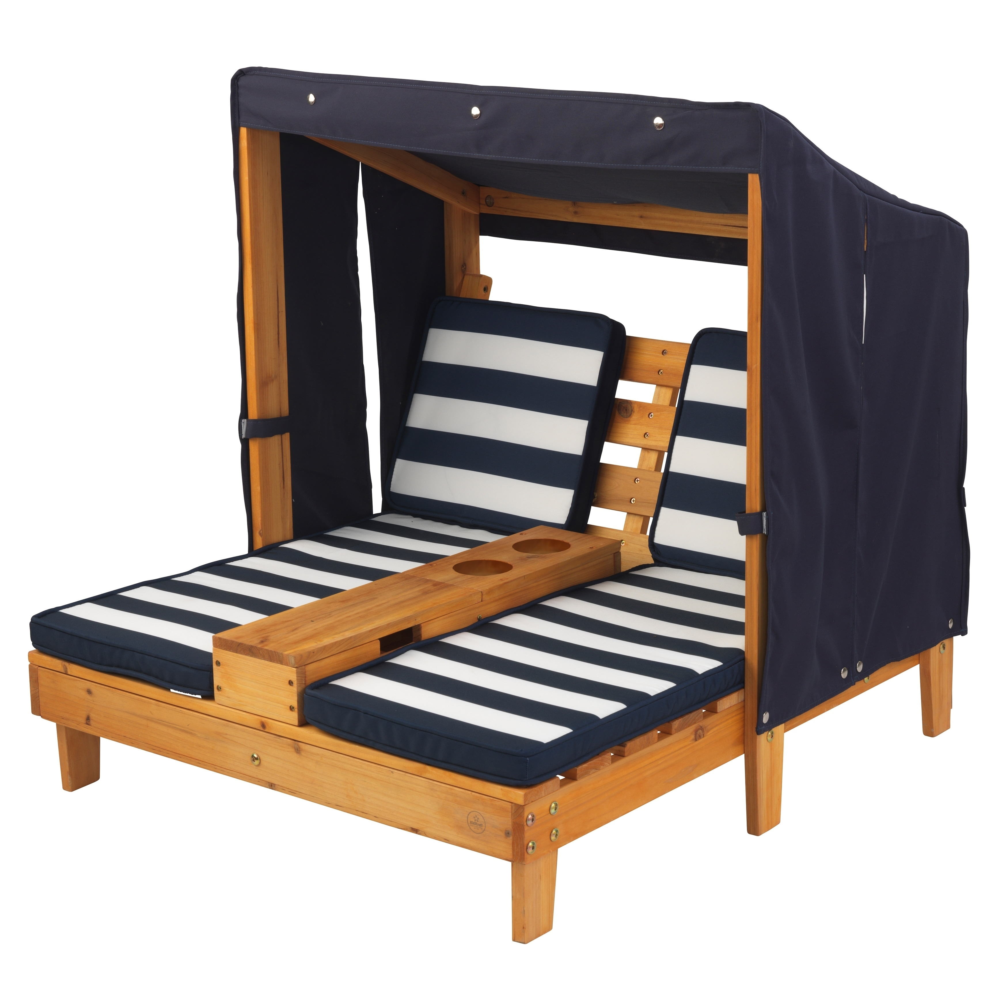 Kid Kraft Double Chaise Lounger - Navy and White Stripes ...