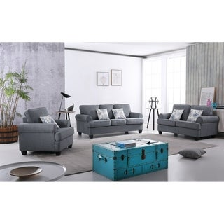 Audrey Mid Century Fabric Sofa Set - 3 pieces (2 options available)