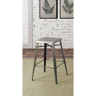 Furniture of America Jopp Industrial Grey Metal Barstools (Set of 2)