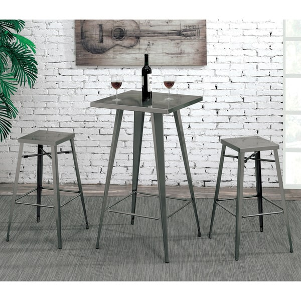 Brilliant Shop Cordon Industrial Dark Grey Square Tall Bar Table By Customarchery Wood Chair Design Ideas Customarcherynet